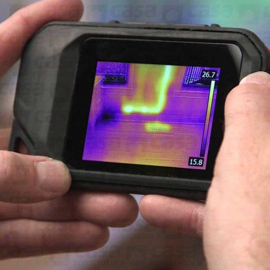 Câmera térmica aplicação