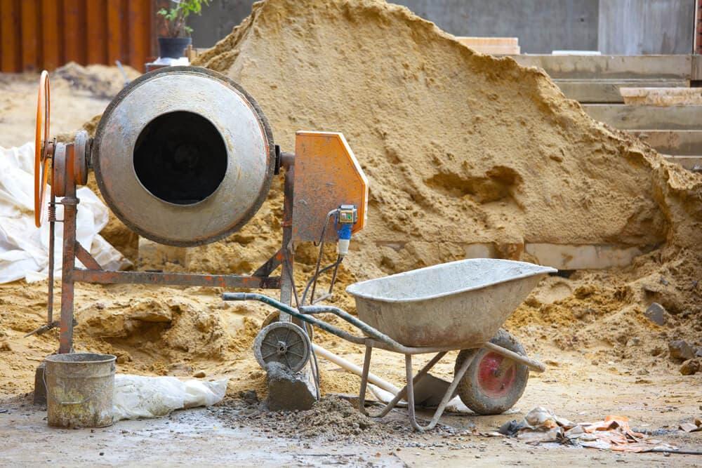 equipamentos da obra