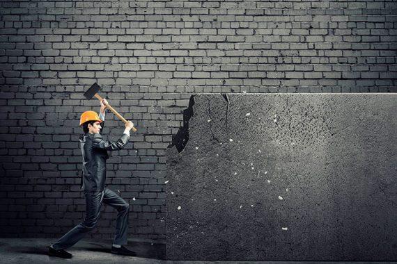 derrubar uma parede